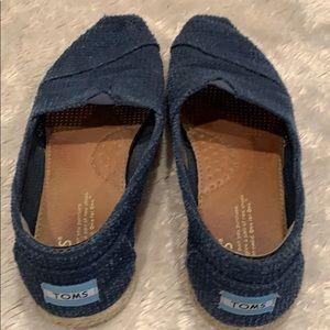 Toms blue espadrilles